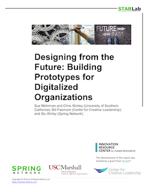 Designing from the Future - Building Prototypes for Digitalized Organizations