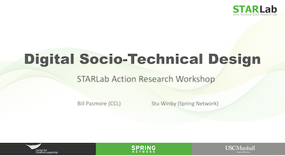 Digital Socio-Technical Design