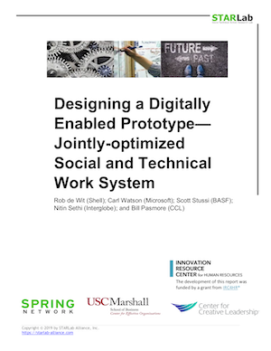 Designing a Digitally Enabled Prototype— Jointly-optimized Social and Technical Work System